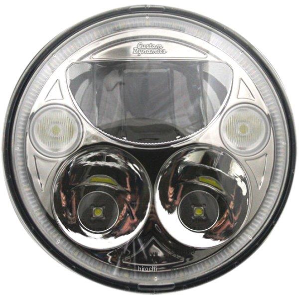 【USA在庫あり】 カスタムダイナミクス LED ヘッドライト 5.75インチ TruBEAM H4 5800K クローム 2001-1259 HD店