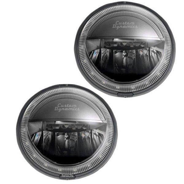【USA在庫あり】 カスタムダイナミクス LED パッシングランプ 4.5インチ/LED Halo付き 黒 (左右ペア) 2001-1483 HD店