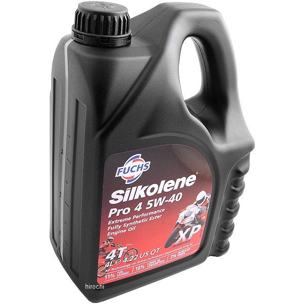 【USA在庫あり】 シルコリン Silkolene SILK PRO4 PLUS 5W-40 4LT 430305 HD