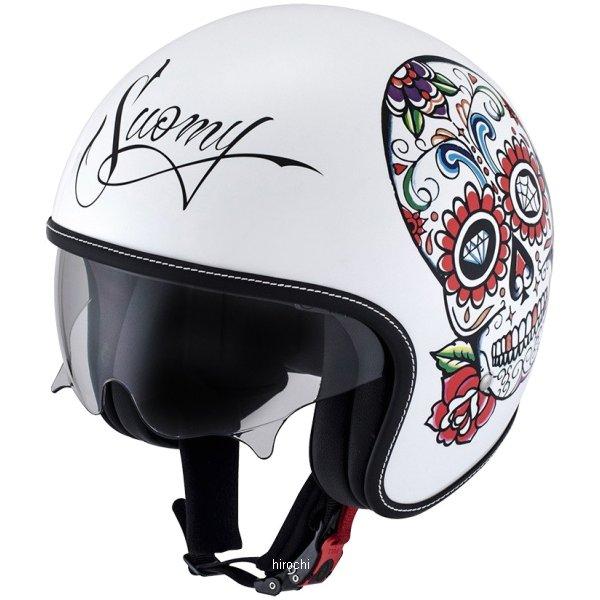 【メーカー在庫あり】 SRK0005スオーミー SUOMY ジェットヘルメット ロック カラベラLサイズ(59cm-60cm) 白 SRK000503 HD店
