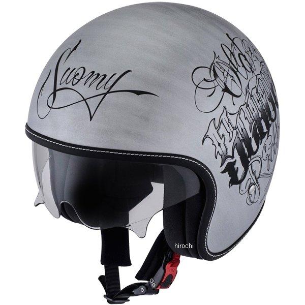 【メーカー在庫あり】 SRK0001スオーミー SUOMY ジェットヘルメット ロック オールドスクールXLサイズ(61cm-62cm) シルバー SRK000104 HD店
