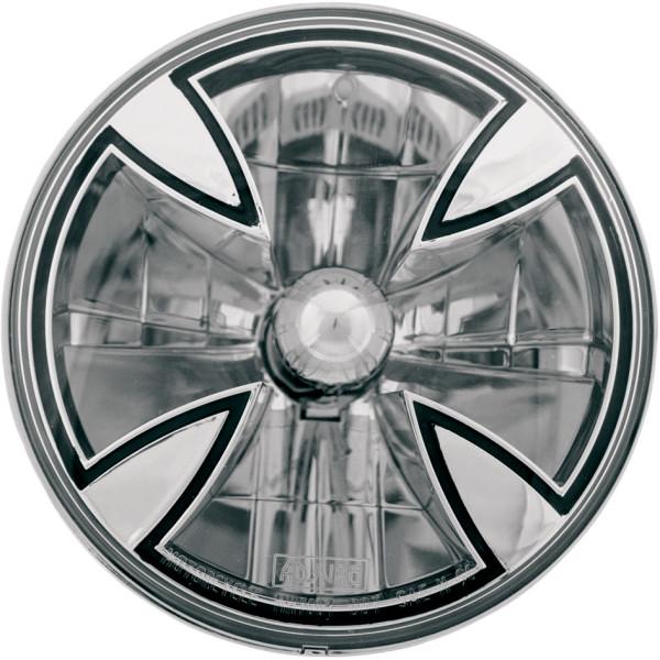 【USA在庫あり】 アジュール Adjure ヘッドライト 7インチ H4 55/60W アイアンクロス 590449 HD店