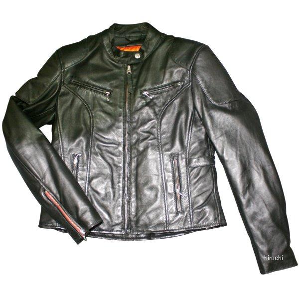モトフィールド MOTO FIELD 秋冬モデル シングルライダースレザージャケット レディース 黒 Lサイズ MF-LJ130 HD店
