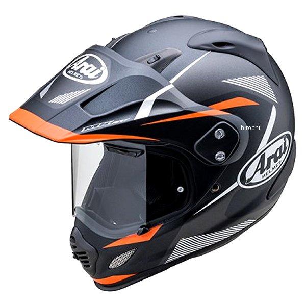 山城×アライ ヘルメット ツアークロス3 ブレイク 黒/オレンジ Sサイズ (55cm-56cm) 4530935528165 HD店