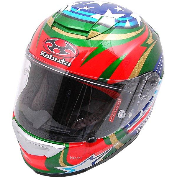 オージーケーカブト OGK KABUTO フルフェイスヘルメット RT-33 ACTIVE STAR 緑 Sサイズ 4966094563561 HD店