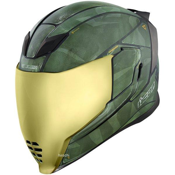 【USA在庫あり】 アイコン ICON フルフェイスヘルメット Airflite Battlescar 2 グリーン XSサイズ 0101-11268 HD店