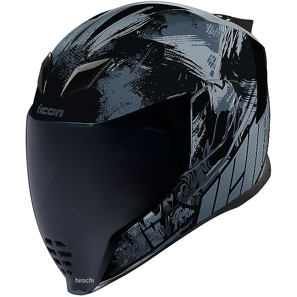 【USA在庫あり】 アイコン ICON フルフェイスヘルメット Airflite Stim 黒 Lサイズ 0101-11278 HD店