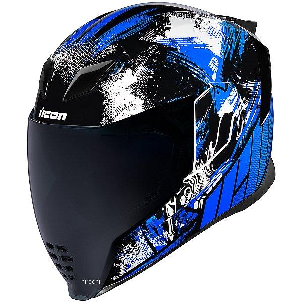 【USA在庫あり】 アイコン ICON フルフェイスヘルメット AIRFLITE STIM 青 XSサイズ 0101-11282 HD店