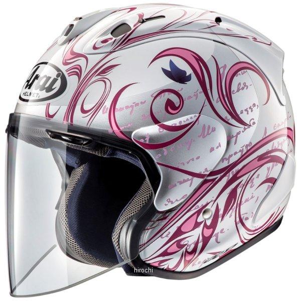 アライ Arai オープンフェイスヘルメット SZ-RAM4X スタイル ピンク Mサイズ(57cm-58cm) 4530935490882 HD店