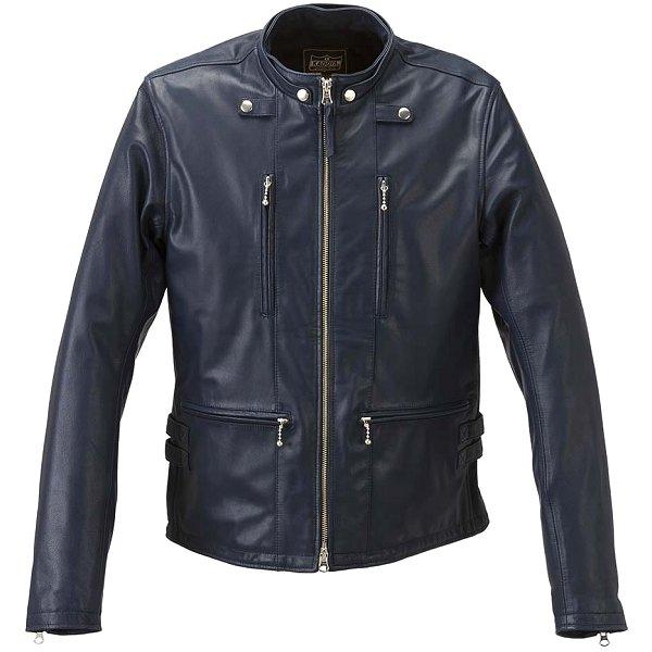 カドヤ KADOYA 2018年秋冬モデル レザージャケット EURO CAPP ネイビー Lサイズ 1190 HD店