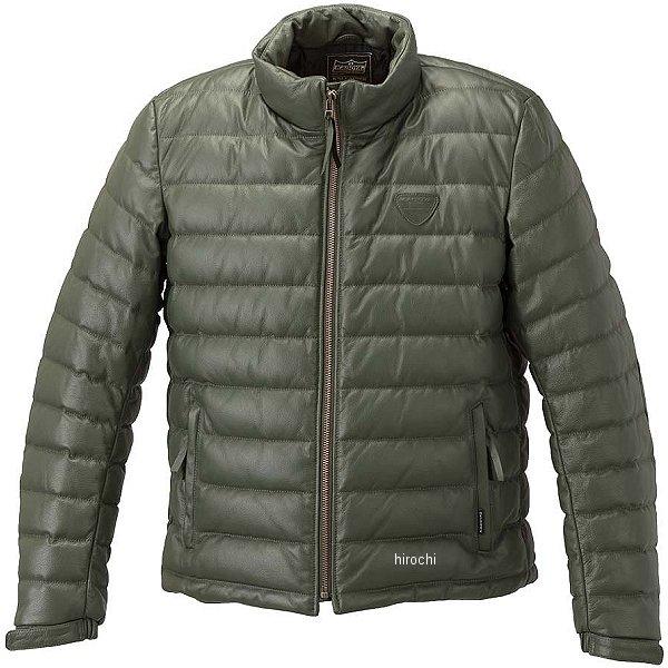 カドヤ KADOYA 秋冬モデル 革ジャン シングル オールレザーダウンジャケット グリーン Lサイズ 1183 HD店