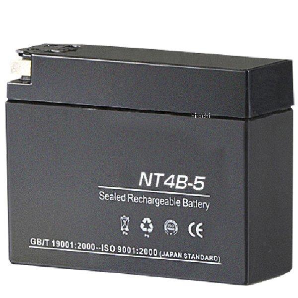 【メーカー在庫あり】 バイクパーツセンター 液入り充電済バッテリー NT4B-5 4B-BS互換 10個セット 100199 HD店