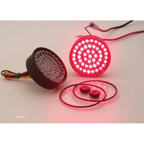 【USA在庫あり】 22-3294 バイカーズチョイス(Biker's Choice) 1157(ダブル球) 赤 LED FULL FACE レトロ 223294 HD