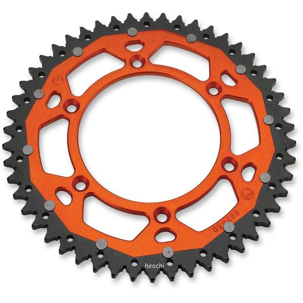 【USA在庫あり】 ムースレーシング MOOSE RACING リア スプロケット デュアル 50T KTM、ハスクバーナ、フサベル オレンジ 1210-1522 HD店