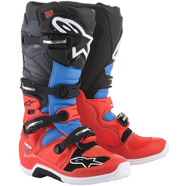 アルパインスターズ ブーツ テック7 蛍光赤/シアン/グレー/黒 11サイズ 29.5cm 2012014-3711-11 HD店
