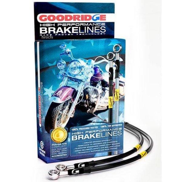 【USA在庫あり】 グッドリッジ GOODRIDGE Ebony2 フロント ブレーキライン キット 08年-13年 ツーリング ABS無し +12インチ(305mm) 036529 HD