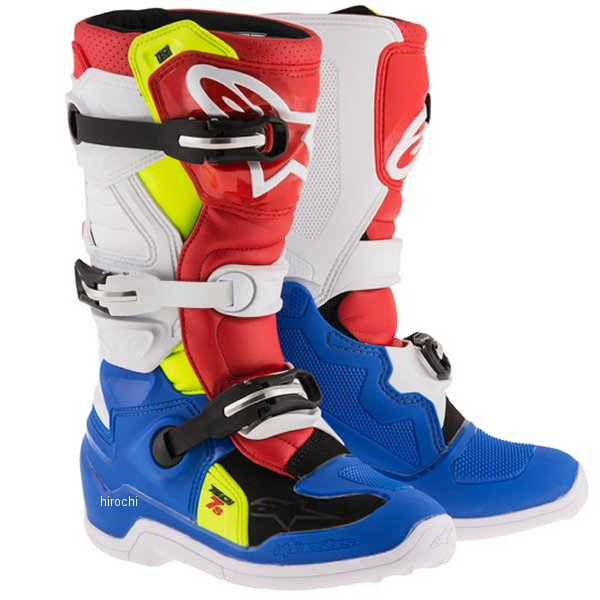 アルパインスターズ ブーツ テック7S ユース用 青/白/赤/黄 6サイズ 25.0cm 2015017-7025-6 HD店
