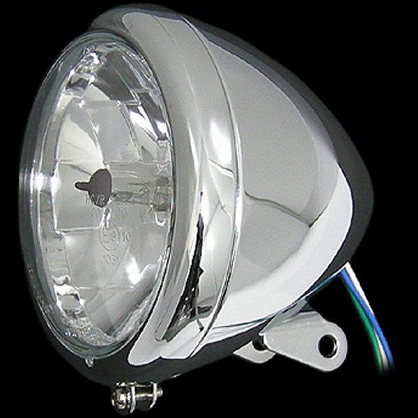 【メーカー在庫あり】 ネオファクトリー 5-3/4インチ ヘッドライト H4 スプリンガー用 クローム 002328 HD店