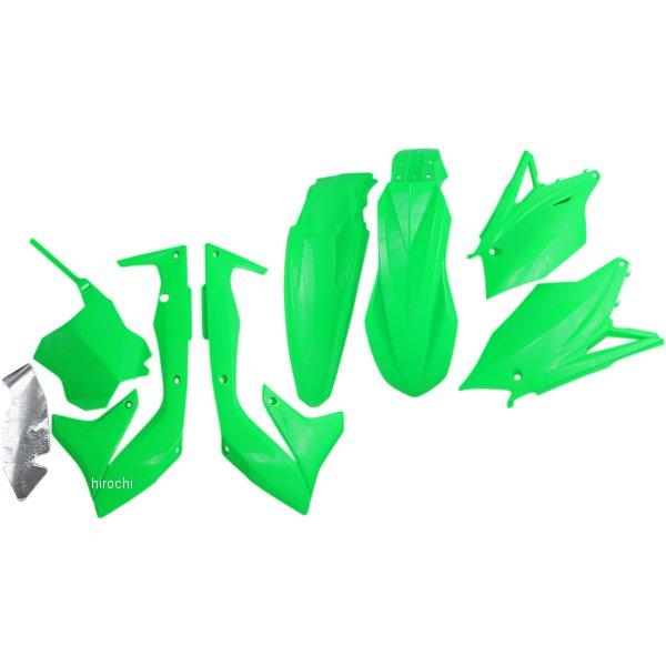 【USA在庫あり】 ユーフォープラスト UFO PLAST 外装キット 18年 KX450F 蛍光緑 1403-2442 HD店