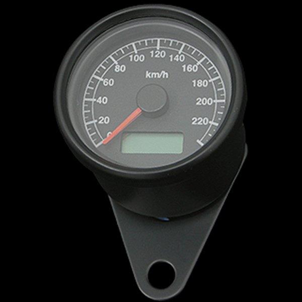 【メーカー在庫あり】 ネオファクトリー 60mm アジャスタブルスピードメーター ブラック 黒盤 橙光 010871 HD店