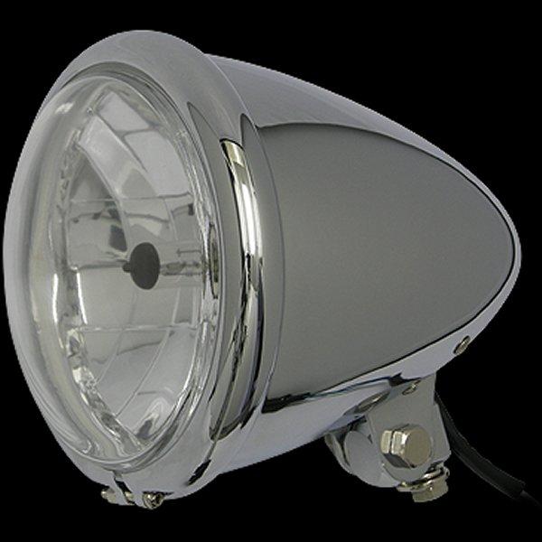 【メーカー在庫あり】 ネオファクトリー 5-3/4インチ バレットヘッドライト H4 クローム 008331 HD店