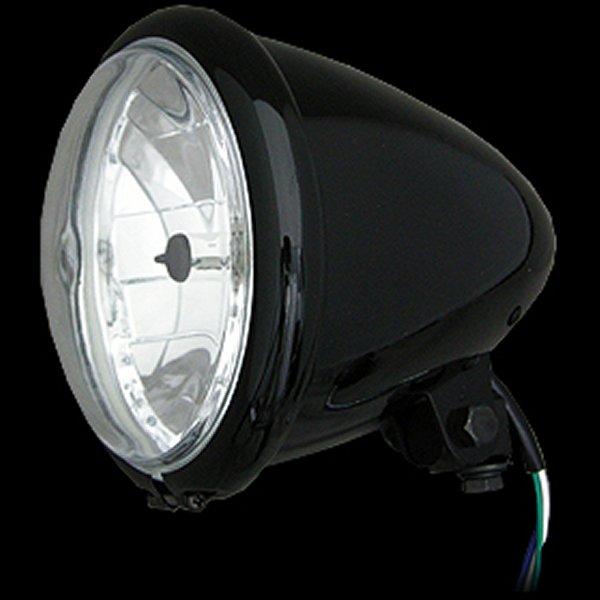 【メーカー在庫あり】 ネオファクトリー 5-3/4インチ バレットヘッドライト H4 ブラック 008332 HD店