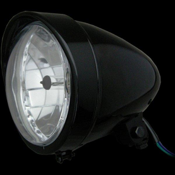 【メーカー在庫あり】 ネオファクトリー 5-3/4インチ バイザーバレットヘッドライト H4 ブラック 008334 HD店