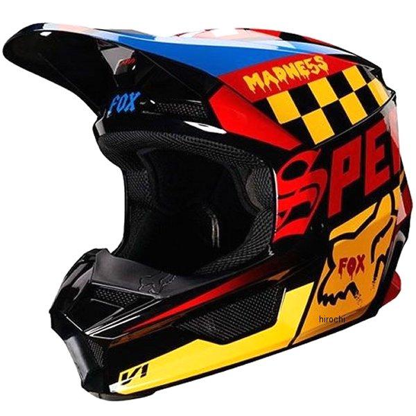 【メーカー在庫あり】 フォックス FOX オフロードヘルメット V1 ユース用 ツァール 黒/黄 YSサイズ (47cm-48cm) 21781-019-S HD店
