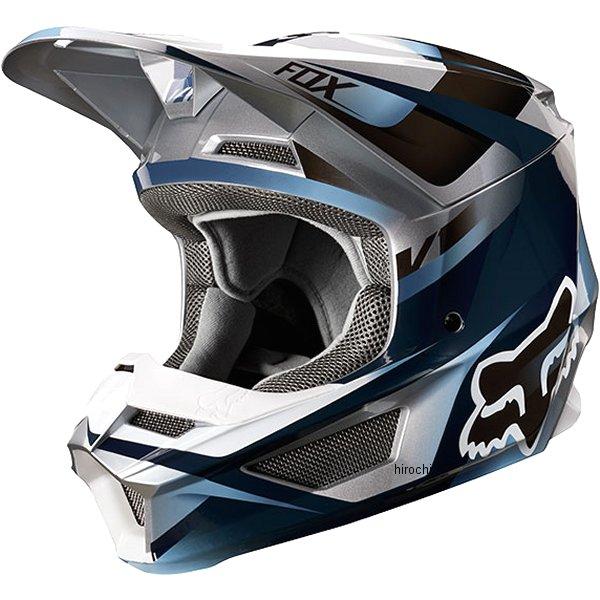 【メーカー在庫あり】 フォックス FOX オフロードヘルメット V1 モティーフ 青/グレー XLサイズ (61cm-62cm) 21775-024-XL HD店