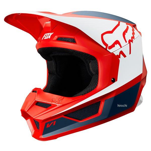 【メーカー在庫あり】 フォックス FOX オフロードヘルメット V1 プリズム ネイビー/赤 Mサイズ (57cm-58cm) 21773-248-M HD店