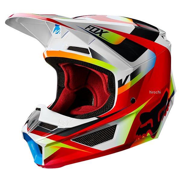 【メーカー在庫あり】 フォックス FOX オフロードヘルメット V1 モティーフ 赤/白 XLサイズ (61cm-62cm) 21775-054-XL HD店