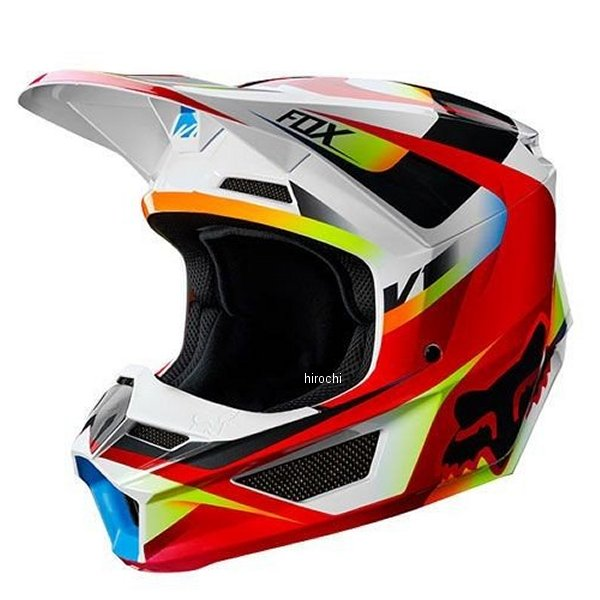 【メーカー在庫あり】 フォックス FOX オフロードヘルメット V1ユース用 モティーフ 赤/白 YSサイズ (47cm-48cm) 21784-054-S HD店