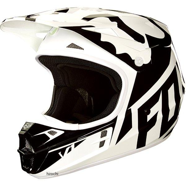 【メーカー在庫あり】 MX18 フォックス FOX オフロードヘルメット V1 レース 黒/白/緑 XLサイズ (61cm-62cm) 19531-129-XL HD店