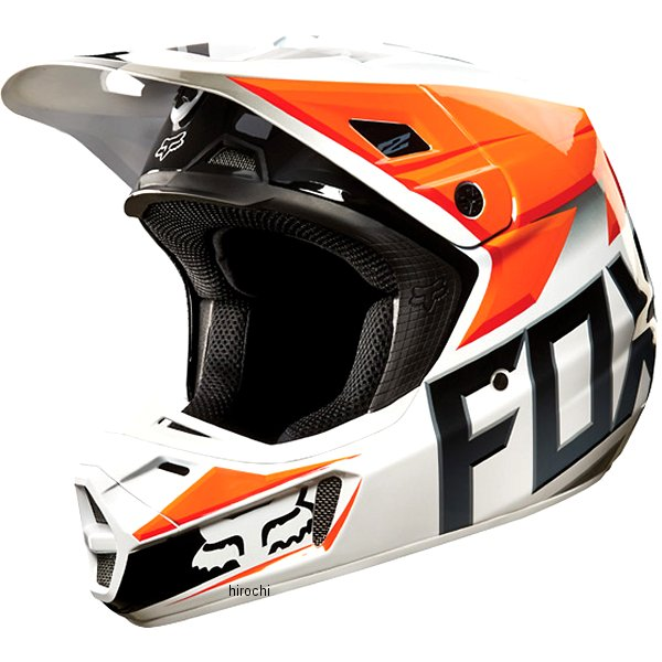 【メーカー在庫あり】 フォックス FOX オフロードヘルメット V2 レース オレンジ Lサイズ (59cm-60cm) 11080-009-L HD店