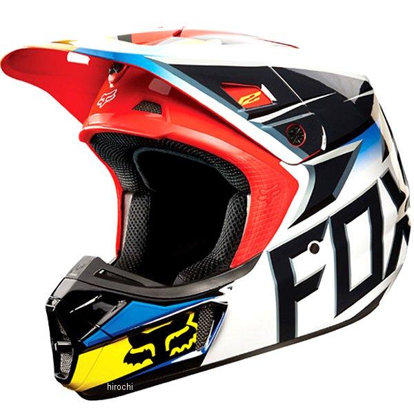 【メーカー在庫あり】 フォックス FOX オフロードヘルメット V2 レース 黒/赤 Mサイズ (57cm-58cm) 11080-017-M HD店