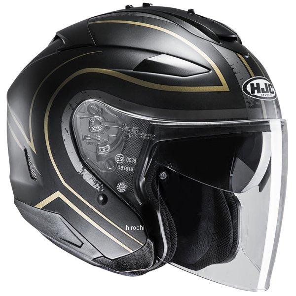 【メーカー在庫あり】 エイチジェイシー HJC ジェットヘルメット IS-33 II エイプス 黒/ゴールド Lサイズ(59-60cm) HJH146GD01L HD店