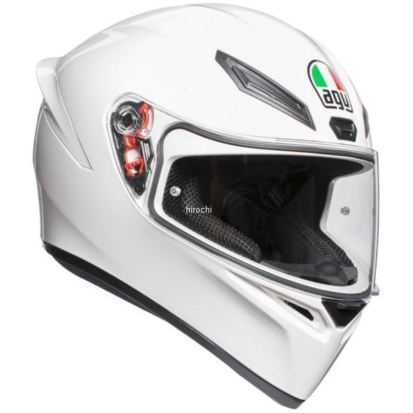 028194IY-001-M エージーブイ AGV フルフェイスヘルメット K1 JIST SOLID アジアフィット 白 Mサイズ(57-58cm) 028194IY001-M HD店