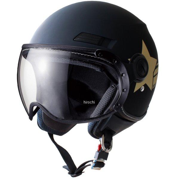 マルシン工業 Marushin ジェットヘルメット MS-340 アーミースター マットブラック Lサイズ MS34013L HD店