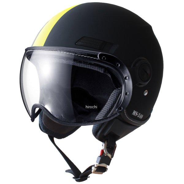 マルシン工業 Marushin ジェットヘルメット MS-340 アシンメトリック イエロー Lサイズ MS34026L HD店
