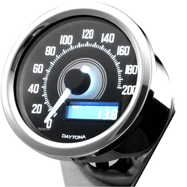 【メーカー在庫あり】 デイトナ ヴェローナ スピードメーター 200km/h バフ/白 LED 92248 HD店