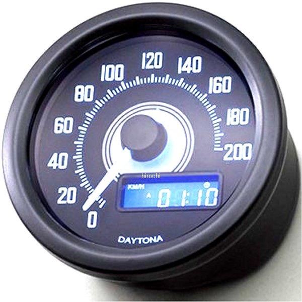 【メーカー在庫あり】 デイトナ ヴェローナ スピードメーター 200km/h 黒/白 LED 92249 HD店
