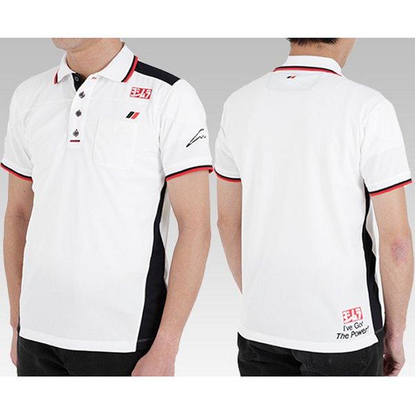 ヨシムラ クシタニ ポロシャツ 白 LL 900-218-21LL HD店