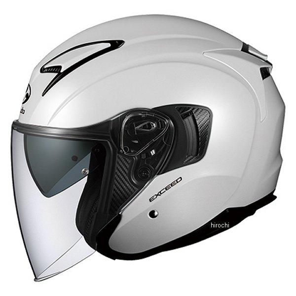 【メーカー在庫あり】 オージーケーカブト OGK KABUT ジェットヘルメット EXCEED パールホワイト Lサイズ 4966094576844 HD店