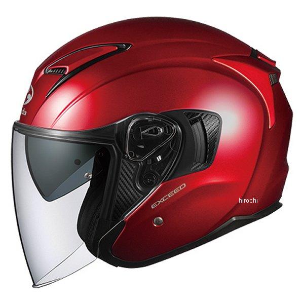 【メーカー在庫あり】 オージーケーカブト OGK KABUT ジェットヘルメット EXCEED シャイニーレッド Mサイズ 4966094576936 HD店