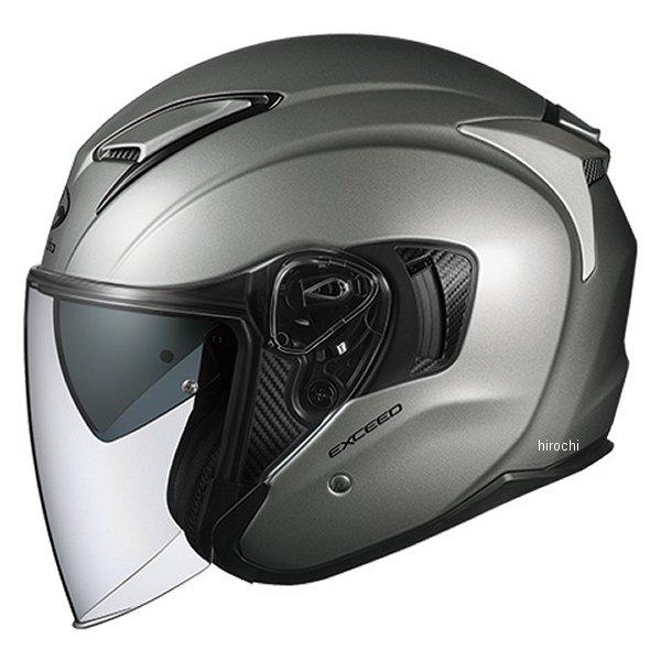 【メーカー在庫あり】 オージーケーカブト OGK KABUT ジェットヘルメット EXCEED クールガンメタ Lサイズ 4966094576998 HD店