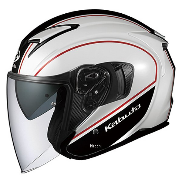 【メーカー在庫あり】 オージーケーカブト OGK KABUT ジェットヘルメット EXCEED DELIE ホワイトブラック Lサイズ 4966094577094 HD店