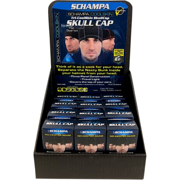 【USA在庫あり】 シャンパ Schampa トライパネルスカルキャップ (12個入り) 2504-0458 HD店