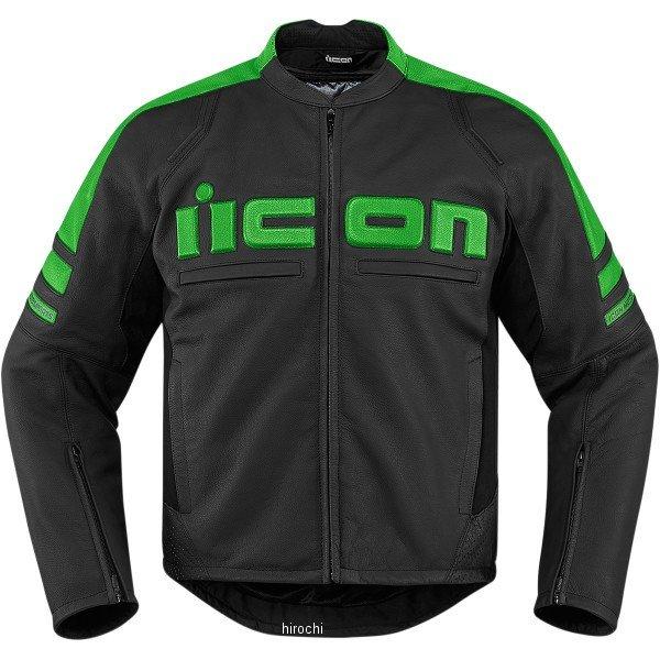 【USA在庫あり】 アイコン ICON レザージャケット モーターヘッド 2 グリーン Sサイズ 2810-2844 HD店