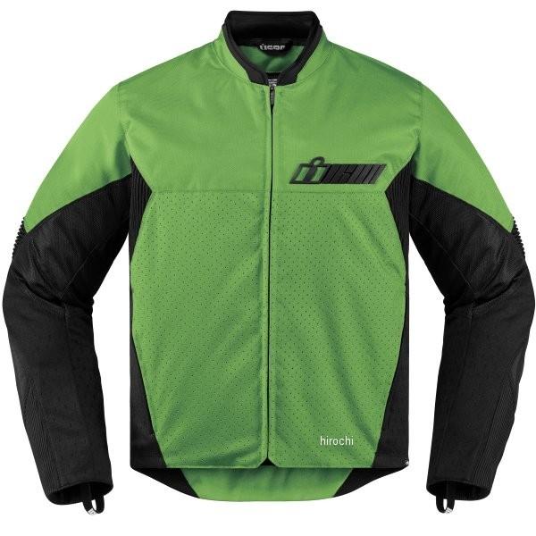【USA在庫あり】 アイコン ICON 春夏モデル ジャケット コンフリクト グリーン Lサイズ 2820-3890 HD店