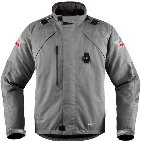 アイコン ICON 防水ジャケット Raiden DKR Monochromatic グレー 3XLサイズ 2820-3777 HD店
